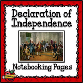 Signers of the Declaration of Independence Notebooking Pages