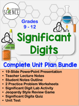 Significant Digits Complete Unit Plan - 8 products included