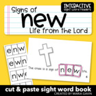 "Interactive Sight Word Reader ""Signs of New Life from the Lord"""