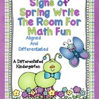 Signs of Spring Write the Room for Math Fun-Differentiated