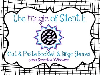 Silent E Activities... Bingo Games and Cut and Paste Book