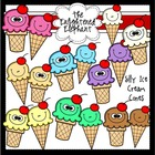 Silly Ice Cream Cones Clip Art