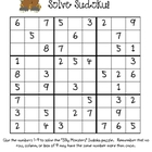 """Silly Monster Sudoku"" (Monster Problem Solving for Older"