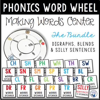 Silly Sentence Spinner Kit (75 pages) Spin, Build, Print &
