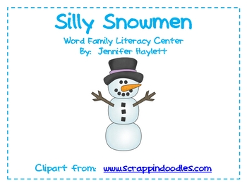 Silly Snowmen Word Family Activity