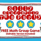 Silly Star-Belly Tea Party {FREE Math Game - Editable}
