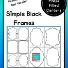 Simple Black Frames Clip Art Commercial Use OK
