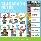 Classroom Rules for K-2 - Make Your Own Poster or Chart Display