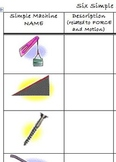 Simple Machines Chart--web research worksheet