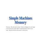Simple Machines Matching Game