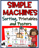 Simple Machines Sorting, Printables, & Posters (Color & Gr