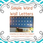 Simple Word Wall Letters