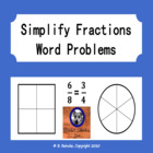 Simplify Fractions Word Problems (2 worksheets)