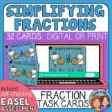 Simplifying Fractions Task Cards: 32 Multiple Choice Cards