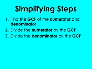 Simplifying Proper Fractions 2 PowerPoint by Kelly Katz