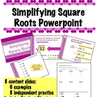 Simplifying Square Roots Powerpoint