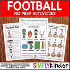 Simply Football - Kindergarten Literacy Activities