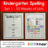Simply Spelling - Kindergarten Spelling Lists 1-10