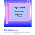 Singapore Math Word Problem - Grade 2 and 3 Volume