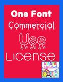 Single Font License { for Commercial Use }