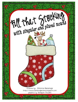 Singular and Plural Noun Christmas Fill that Stocking Game