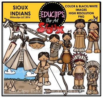 Sioux Indians Clip Art Bundle