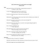 Sir Gawain and the Green Knight lesson plans, unit plan