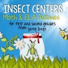 Six Insect Math and Literacy Centers