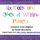 Six Traits and Types of Writing Posters