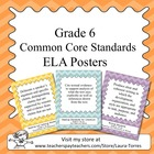 Sixth Grade Common Core Standards ELA Posters