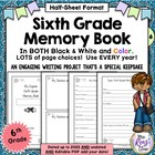 Memory Book {Sixth Grade} 6th Grade End of Year Writing Project
