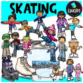 Skating Clip Art Bundle