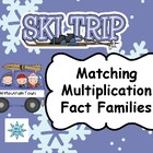 Skiing Multiplication Fact  Families: Sorting Activity & S