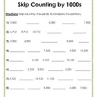 Skip Counting By 1,000 (One Thousand)