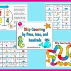 Skip Counting Math Center Game