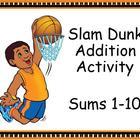 Slam Dunk Addition Basketball Activity