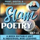 Slam Spoken Word Poetry Lessons and Unit Plan