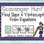 Slope and Y-Intercept from Equations Scavenger Hunt