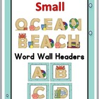 Small Ocean - Beach Word Wall Headers A-Z