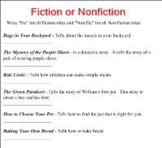 Smart Board Fiction or Non Fiction