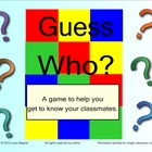 Guess Who Game - Icebreaker activity for beginning year fo