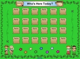 SmartBoard Attendance/Student Check-In Explorer Kids Theme
