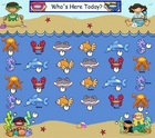 SmartBoard Attendance/Student Check-In Ocean Theme