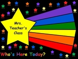 SmartBoard Attendance/Student Check-In Star Theme