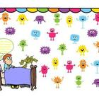 Smartboard Attendance - Monsters Under the Bed Theme