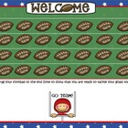Smartboard Attendance/Football Theme