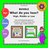 Smartboard: Music Melody – What do you hear: high, middle