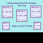 Smartboard Solving Equations with Variables Math Lesson