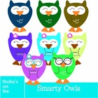 CLIPART: Smarty Owls by Shelley's Art Box