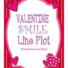 Smile Valentine: Line Plot Common Core Math Activity